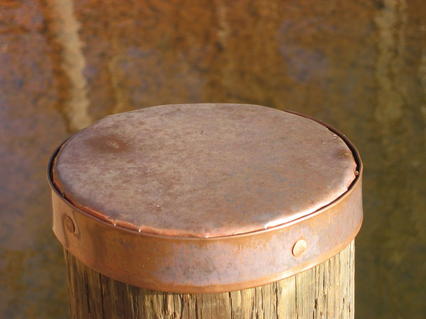 Copper piling caps bing images